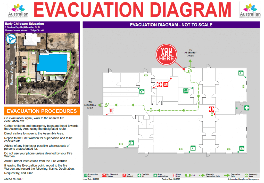 Childcare Emergency Evacuation Diagram - After